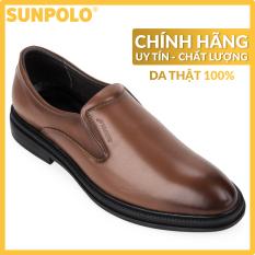 Giày nam, Giày tây da bò SUNPOLO SPH297 (Nâu, Đen)