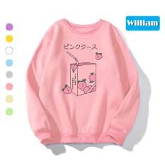 Áo Sweater chui đầu nam nữ dễ thương William – Chất liệu nỉ bông ngoại mềm mịn, giữ ấm tốt, làm áo cặp – DS74