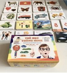 THẺ HỌC THÔNG MINH CHO BÉ / Flash cards, Giáo dục thông minh/ 416 thẻ, 16 chủ đề cho bé khám phá thế giới/ thẻ song ngữ Việt-Anh, có phiên âm Anh-Mỹ