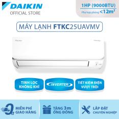 Máy Lạnh Daikin Inverter FTKC25UAVMV – 1HP (9000BTU) Tiết kiệm điện vượt trội – Luồng gió Coanda – Tinh lọc không khí – Khử ẩm 25% – Độ bền cao – Chống ẩm mốc – Chống ăn mòn – Làm lạnh nhanh – Hàng chính hãng