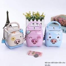Két lợn mini tiết kiệm tiền cho bé (Tặng kèm khóa) xinh xắn đáng yêu, bé nào cũng thích nhét tiền vào tiết kiệm