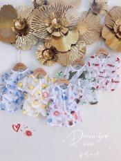 Combo 5 bộ cotton giấy cộc tay cho bé, khuya giữa, hàng đẹp 3-13kg – BO1