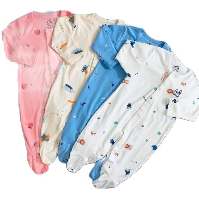 Body dài liền tất cho bé chất liệu cotton mặc thu đông cao cấp (3-15kg)