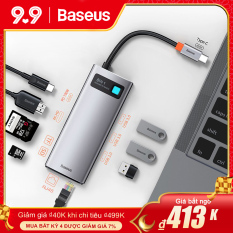 Baseus Bộ Chuyển Đổi USB C Hub Loại C SangHDMI-compatible Tương Thích USB 3.0, Dock Hub 8 Trong 1 Loại C Đối Với Macbook Pro Bộ Chia USB C Cho Máy Tính Xách Tay Air