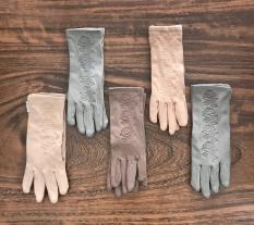 Combo 5 đôi găng tay dập in bông hồng ,vải cotton 100% co giãn , thấm hút mồ hôi tốt , nhiều màu , ảnh thật