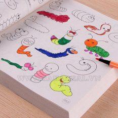 Sách tô màu 5000 hình kèm bút màu