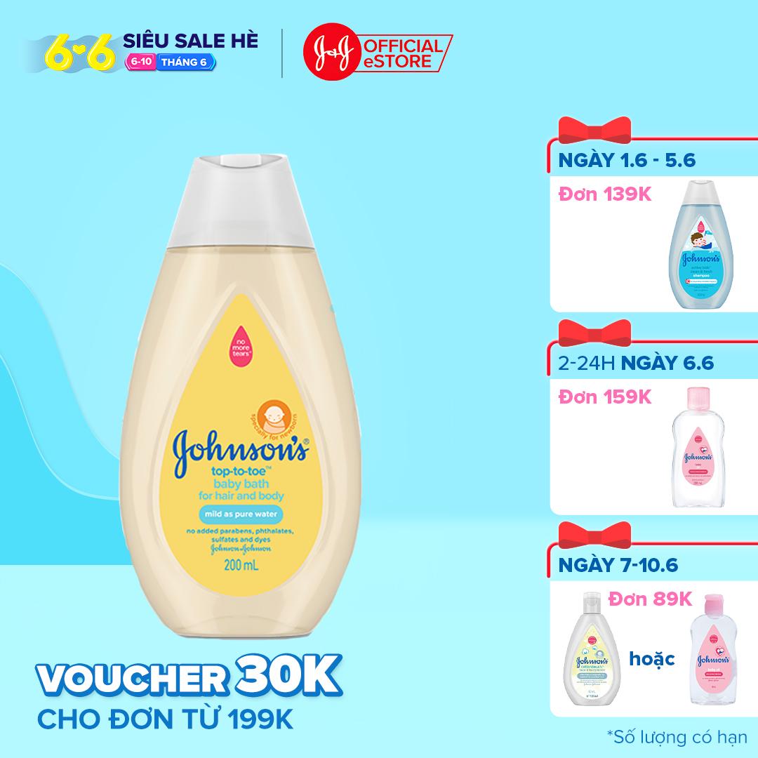 Sữa tắm gội toàn thân Johnson's 200ml-101066607