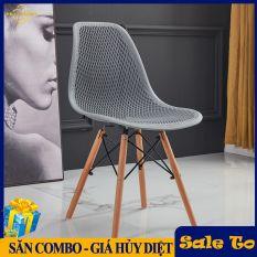 Ghế Eames lưng đan lưới BC 02 – Ghê Cafe chân gỗ sồi tự nhiên
