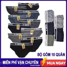 Bộ 10 quần lót nam, chất liệu thun lạnh thoáng mát, co giãn 4 chiều, thiết kế khéo léo, ôm trọn vòng 3
