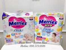 Bỉm MERRIES Nội Địa thêm miếng dán/quần đủ size S88/M68/L58/L50/XL44/XXL28/XXL26