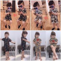 Quần áo trẻ em mùa hè, Bộ quần áo 3D, Bộ quần áo bé trai bé gái chất lụa in hình 3D mềm mại cho bé từ 8kg đến 22kg( mẫu ngẫu nhiên)