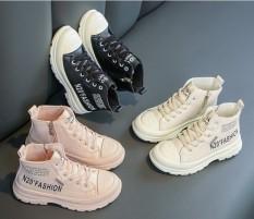 Boot bé gái bé trai giày da cao cổ trẻ em xuất khẩu hàng đẹp đế mềm đi êm chân dễ phối đồ