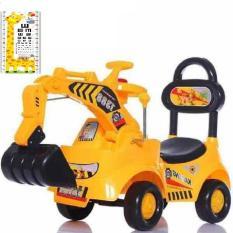 Xe cần cẩu kiêm xe chòi chân cho bé, có đèn có nhạc tặng kèm thước đo chiều cao cho bé