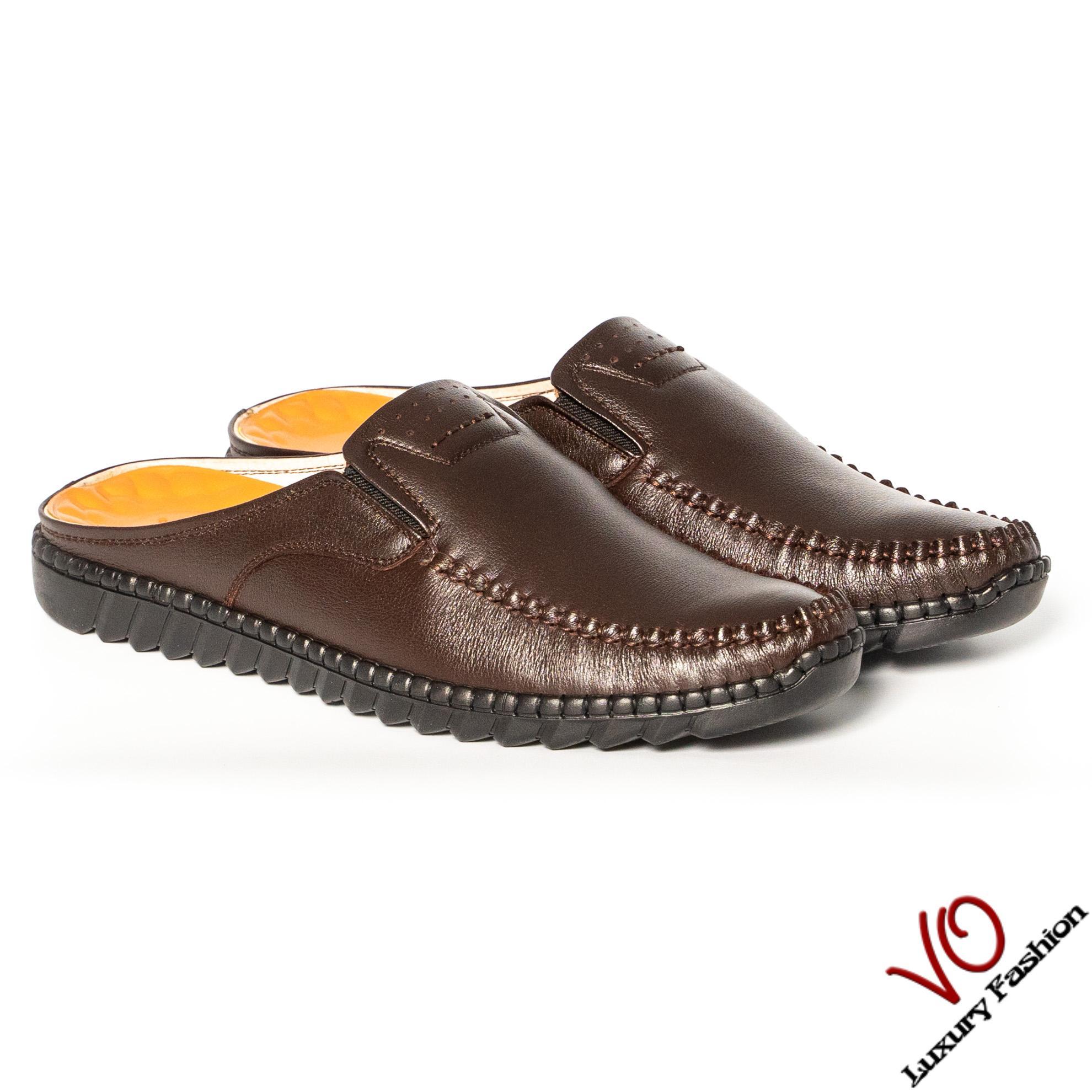 Giày sabo giày sục da bò trẻ trung VO Shoes VO14