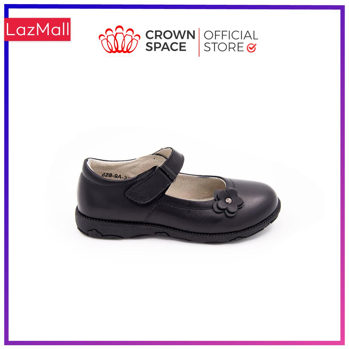 Giày Búp Bê Đi Học Bé Gái Crown Space UK School Shoes CRUK3039 Cao Cấp Nhẹ Êm Thoáng Mát Size 30-36/4-14 Tuổi
