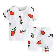 Bộ quần áo trẻ em cotton giấy cho bé – Bộ đồ cotton cho bé trai và bé gái QATE219