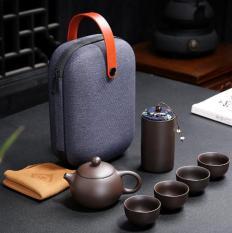 [SALE KHO] Bộ bình trà có túi đựng đi du lịch + Tặng Kèm Khăn Lau Cao Cấp