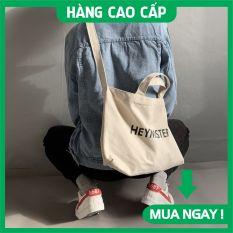 Túi tote vải canvas đeo chéo đựng đồ đi chơi, đi học Hey Mister