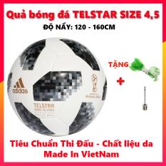 Quả Bóng Đá World Cup 2018 TELSTAR 18 ( Đủ Size ) Hàng Chuẩn 365 Tặng kèm Lưới + Kim bơm bóng