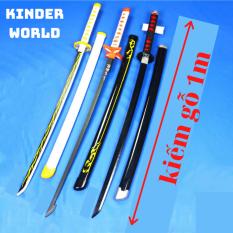 Mô hình kiếm gỗ kimetsu no yaiba dài 1m (lưỡi kiếm bằng gỗ) / Kiếm nhật katana / Kiếm gỗ đồ chơi