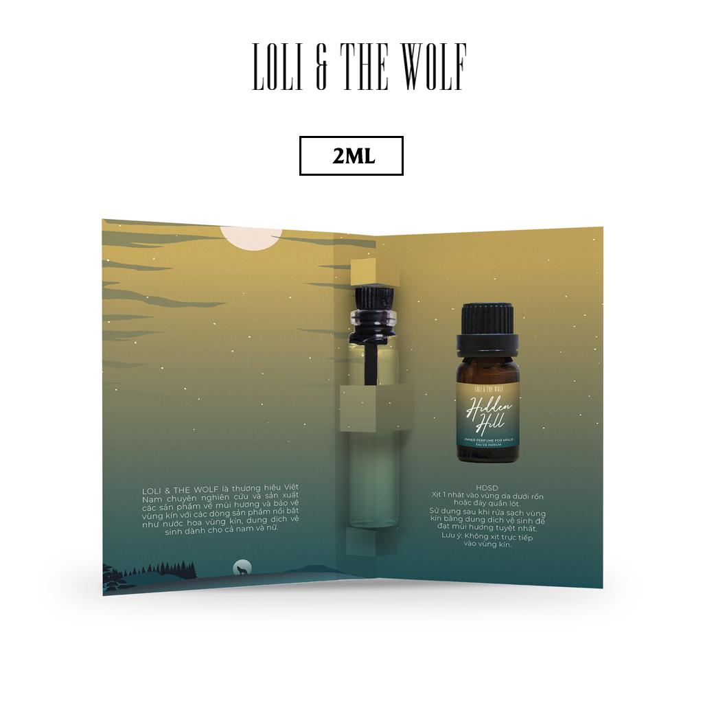 Nước Hoa Mini Cho Vùng Kín Cho Nam Eau De Parfum – Hidden Hill – Chai 2ml nhỏ gọn tiện lợi