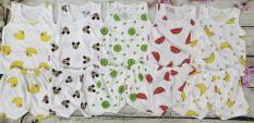 Combo 5 bộ cộc trắng trái cây mẫu siêu hot 2019 4-14kg