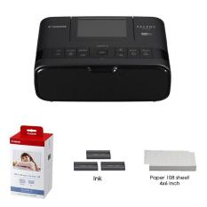 Máy in Canon SELPHY CP1300 Wifi (Màu đen)- Hàng Canon Lê Bảo Minh + Giấy in ảnh Paper Set KP -108IN