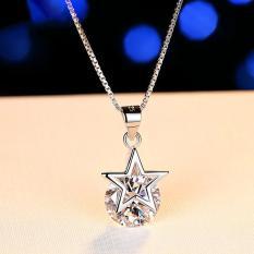 Dây chuyền nữ Ngôi sao may mắn bạc Ý S925 đính đá Zircon sáng lấp lánh vòng cổ nữ trang sức nữ 925 sliver MDL-DC59