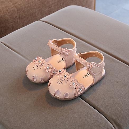 sandal tập đi bé gái size 15-19 quai đan công chúa xinh xắn