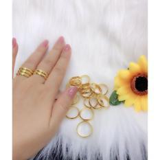 Nhẫn trơn 1 chỉ mạ vàng 24k – Nhẫn đôi sang trọng