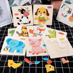 Bộ 5 Tranh Lắp Ghép Hình Bằng Gỗ Nhiều Chủ Đề Cho Bé Từ 1 Đến 4 Tuổi, Trò Chơi Ghép Hình Puzzle Toys, Đồ Chơi Trẻ Em Benrikids