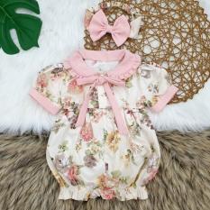 [HCM]Body cho bé gái kèm tuban họa tiết hoa hồng cho bé từ 5kg đến 15kg