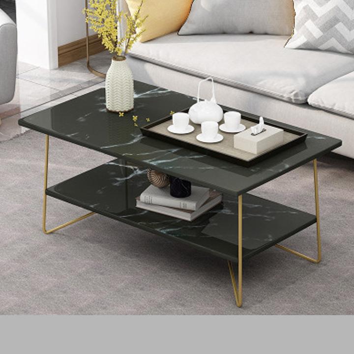 Bàn sofa phòng khách – Bàn cà phê – Bàn trà mặt gỗ vân đá hình chữ nhật trang trí phòng khách, showroom, phòng làm việc