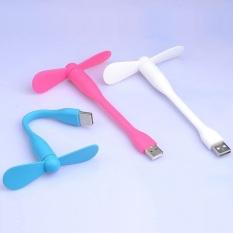 Quạt Mini 2 Cánh Tháo Rời Cổng USB Giải Nhiệt Uốn Cong Tùy Thích – Quạt Điều Hòa Mini Tích Điện Nhỏ Gọn