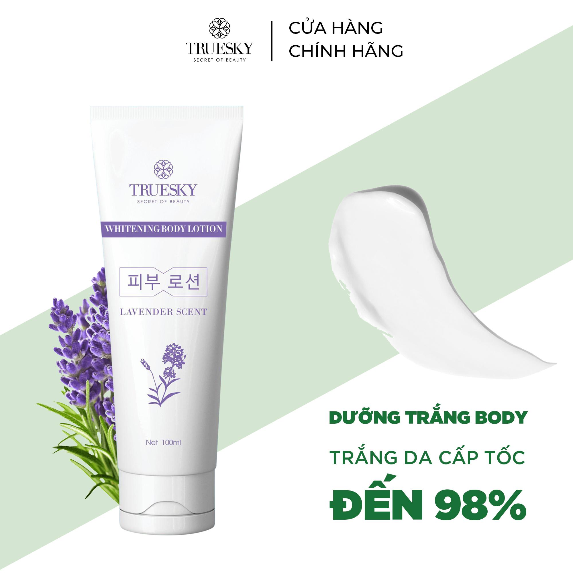 Kem body dưỡng trắng da Truesky dạng lotion hương nước hoa Lavender chính hãng 100ml – Whitening Body Lotion