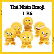 Thú nhún lò xo Emoji biểu tượng cảm xúc giao mẫu ngẫu nhiên, Emoji lò xo lắc đầu vui nhộn Đồ chơi giảm stress, giảm căng thẳng, trang trí xe hơi bàn làm việc