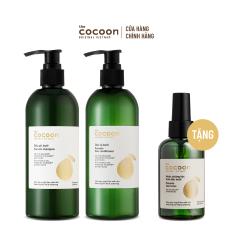 SPECIAL COMBO gội xả bưởi không sulfate giảm gãy rụng tóc Cocoon (tặng 1 Nước dưỡng tóc tinh dầu bưởi Cocoon 140ml)