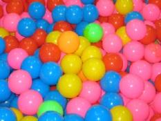 Túi 50 Quả Bóng Nhựa Cho Bé Vui Chơi BBT Global nhiều kích thước sắc màu – nha bong banh nhua tre em cho be