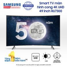 Smart TV Samsung màn hình cong 4K UHD 49 inch – Model UA49RU7300KXXV (2019) – Cải tiến màu sắc PurColor + Bộ xử lý hình ảnh 4K UHD, HDR (tương thích HDR10+) + Điều khiển Tivi bằng điện thoại – Hàng phân phối chính hãng.