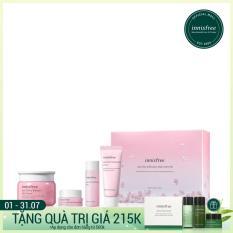 Bộ sản phẩm dưỡng ẩm sáng da innisfree Jeju Cherry Blossom Jelly Cream Set