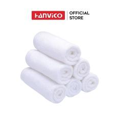 Khăn mặt HANVICO màu trắng 34×34