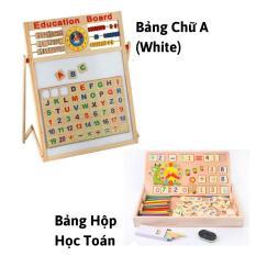 Bảng chữ nam châm 2 mặt viết phấn, viết bút dạ (CHỌN MẪU bảng chữ A hoặc Bảng hộp học Toán) cho trẻ 5 tuổi