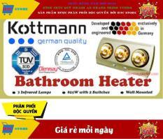 Đèn Sưởi Nhà Tắm Kottmann Loại 3 Bóng Vàng – Làm Nóng Tăng Nhiệt Độ Giữ Âm Cho Phòng Tắm Vào Mùa Đông