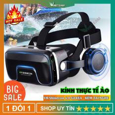 Kính thực tế ảo VR Shinecon G04EB Phiên Bản 4.0 – Hàng nhập khẩu (hỗ trợ học tiếng anh), Phiên bản nâng cấp Kính thực tế ảo VR Box phiên bản 2 (Trắng Đen), Kính thực tế ảo VR Box 3D MINI