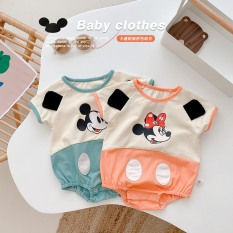 Body cộc tay mùa hè cho bé chất liệu cotton co giãn họa tiết Mickey đáng yêu cho bé từ 4-13 kg – BEEKIDS PLAZA