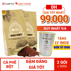 Cà phê bột Light coffee Đặc biệt 1KG , đậm , đắng , mạnh, cà phê 100% nguyên chất không tẩm ướp, không pha trộn tạp chất , giá rẻ