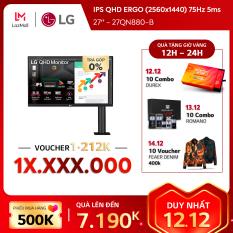 Màn hình máy tính LG IPS QHD ERGO (2560×1440) 75Hz 5ms 27 inches l 27QN880-B l HÀNG CHÍNH HÃNG