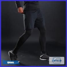 Combo 2 in 1 quần đùi và quần legging nam Pro combat T-Rex Shop SP005 (Men Pants, legging pant,đồ tập quần áo gym, mẫu short ngắn,thể hình,tạ Fitness)