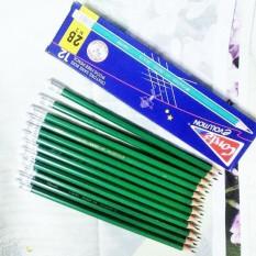 12 cây bút chì 2B xanh, viết chì xanh