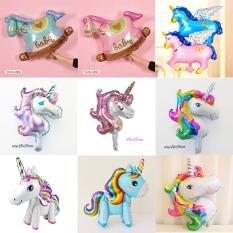 Bong bóng kiếng tráng nhôm ngựa pony ngựa có cánh ngựa gỗ trang trí đồ chơi cho bé